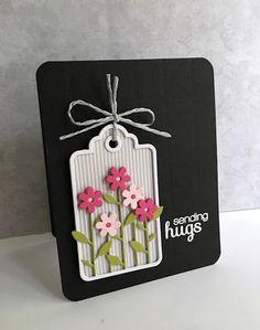 Sending Hugs Tag Card