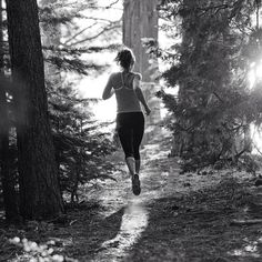 trail running.