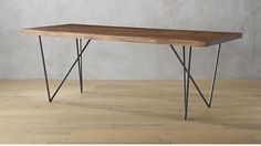 "$1000 Dylan Dining Table | 80"" CB2 Dining room is 156"" deep; we could fit the medium sized table in no problem, I think."