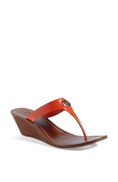 Tory Burch 'Cameron' Wedge Sandal (Online Only) available at #Nordstrom