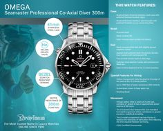 Omega Seamaster Diver Co-Axial Automatic Mens Watch Omega Seamaster Diver 300m, Seamaster 300, Omega Seamaster Automatic, Omega Speedmaster, Speedmaster Professional, Omega Seamaster Professional, Mens Watches For Sale, Cool Watches, Dream Watches