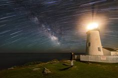Star Trails & The Milky Way At Pemaquid Point Lighthouse