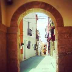 Walking through the old town of Teulada on the Costa Blanca, Spain