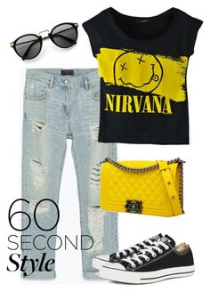 """""""graphic tee"""" by indirareeves ❤ liked on Polyvore"""