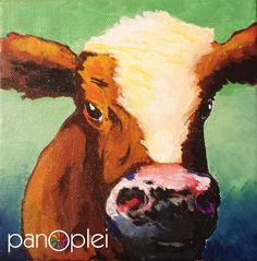 https://www.etsy.com/listing/229691520/cow-painting-by-j-travis-duncan-acrylic #panoplei #jtravisduncan