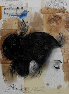"Saatchi Art Artist Loui Jover; Drawing, ""forever going....."" #art"