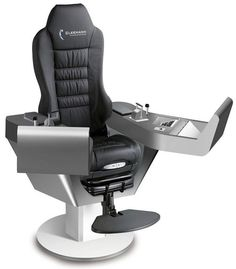 COMMANDER XXL - Operator seat / for ships / with built-in pilot console / high-back by Cleemann Chair-Systems Gaming Room Setup, Pc Setup, Gaming Chair, Simple Computer Desk, Computer Workstation, Flight Simulator Cockpit, Pc Table, Gaming Station, Video Game Rooms