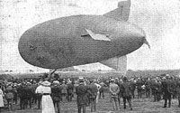 On Monday 21st July 1919 the Wingfoot Air Express (owned by the Goodyear Tire and Rubber Company) crashed into the Illinois Trust and Savings Building in Chicago, with the loss of 13 lives. This was the worst Airship disaster in the USA until the Zeppelin Airship, Hindenburg crashed in 1937.