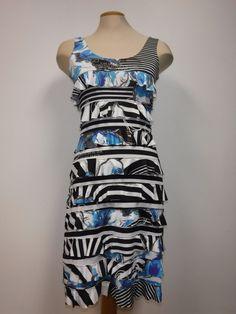 TANGO MANGO RUFFLE DRESS, BLACK/BLUE