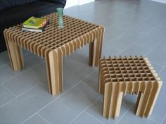 Home Interior, Be Creative to Make Cardboard Furniture Design!: Cardboard Furniture Design For Table