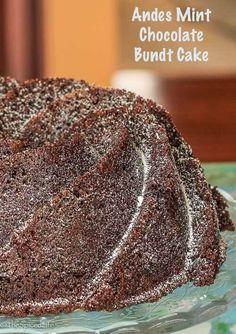 Andes Mint Chocolate Bundt Cake