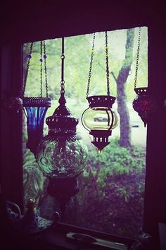 Glass window lanterns ... reaaally wishing I had picked one of these up in Turkey :(