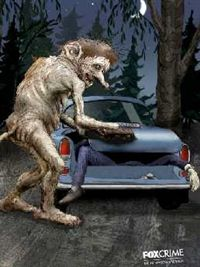 """In Norse mythology, trolls (known as """"troldfolk"""" or """"troll-folk"""" in Norway) are usually cave-dwelling troglodytes with a penchant for being unfriendly to humans, for example by eating them. Today, trolls still occupy their little pop culture niche.    Frank's illustrated ads for Fox Crime depict goofy cartoon trolls committing crime clichés, like transporting a body in the back of a car trunk and engaging in an over-the-top two-handed shootout."""