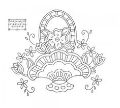 flower basket embroidery pattern