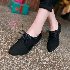 Zapatos gamuza oxford