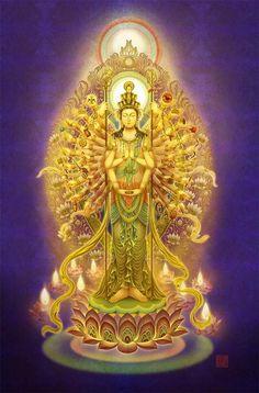Buddha Peace, Buddha Art, Mahayana Buddhism, Hindu Statues, Okuda, Chinese Buddha, Chinese Mythology, Tibetan Art, Murals Street Art
