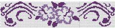 New - 2-Drop Hibiscus Peyote Bracelet Pattern
