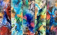 """Ursi Goetz , """"Farbenpower in Harmonie"""" Klicken Sie hier, um auf die Grossansicht mit zusätzlichen Informationen zu gelangen. Painting, Painting Abstract, Art Production, Colors, Painting Art, Paintings, Painted Canvas, Drawings"""