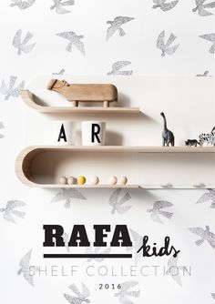 Rafa-kids is excited to present it's shelves collection. The four wall shelves are designed to help store and display your favourite pieces and treasuries. We use again the beautiful Finnish birch plywood. Playful metal elements are great practical additions. Customise each shelf with magnets, clips, hooks and hangers.