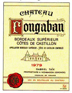 Chateau Fongaban Cote de Castillion 1979 Wine Label