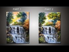 How to Paint Waterfall With Acrylics Lesson 3 ( ) Acrylic Painting Lessons, Acrylic Painting Techniques, Acrylic Art, Landscape Paintings, Watercolor Paintings, Beautiful Paintings, Simple Paintings, Learn To Paint, Pictures To Paint