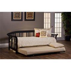 Hillsdale Furniture 1046DBLHTR Dorchester Daybed with Suspension Deck and Trundle in Black