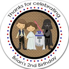 ★★★This is for a sheet of my #Birthday #Party Favor Stickers.★★★  They can be personalized for whatever you would like them to say and can be used for so many things. You c... #stickers #party #favors #lollipops #birthday #treat #bags #lollipop #jedi #star #wars #skywalker