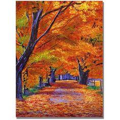 Trademark Art Leafy Lane Canvas Wall Art by David Lloyd Glover, Size: 18 x 24, Multicolor