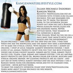 Jillian Michaels drinks Kangen Water