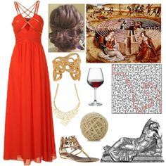 """""""Ariadne (Goddess of Passion and Mazes, Dionysus' Wife)"""" by lilacmayn on Polyvore"""