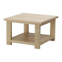 IKEA - REKARNE, Coffee table, , Table in solid white-stained pine, a natural and renewable material.You can sand and treat the table over and over again since it is made of solid pine.Each table has its own unique pattern and surface due to natural variations in the wood.