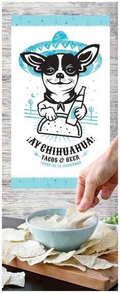 ¡Ay Chihuahua! Tacos & Beers  Logo - Ilustration