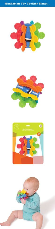 Manhattan Toy Teether Planet & Clutching Toy. The Manhattan Toy Teether Planet and Clutching Toy's textured surfaces are ideal for soothing teething gums. It has a rattling middle chamber and moving rings that click and clack to entertain baby while teaching cause and effect. For over 30 years, Manhattan Toy has been making award winning, high quality, visually appealing toys for babies, toddlers, and kids. Manhattan Toy offers more than 500 exclusive, original product designs distributed...