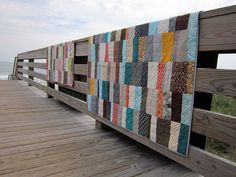 Simply Stacked twin quilts