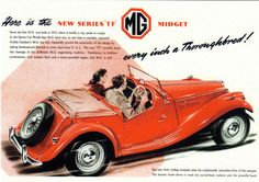 Sales advertisement for 'New MG TF Midget' Think its 1954