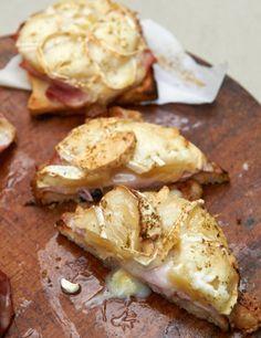 Rezept: Toast Hawaii mit Ziegenkäse