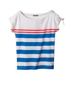 T-shirt rayé femme manches courtes / Petit Bateau
