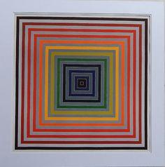 """#art Frank Stella RARE & Large """"Lettre Sur Les Aveugles ll"""" Op Art Lithograph NO RES. please retweet"""