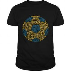 Awesome Soccer Lovers Tee Shirts Gift for you or your family member and your friend:  Soccer Ball Typography Blue soccer tshirt Tee Shirts T-Shirts