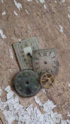 Alte Ziffernblätter (Vintage, Shabby, Konvolut) von Charme der Zeit auf DaWanda.com