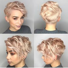 10 latest short haircut for fine hair and stylish short hair color trends - Madame Frisuren - cheveux Latest Short Hairstyles, Haircuts For Fine Hair, Short Pixie Haircuts, Haircuts With Bangs, Bob Haircuts, Hairstyle Short, Undercut Short Hair, Wavy Pixie Haircut, Short Wavy Pixie