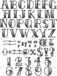 Tattoo Alphabet