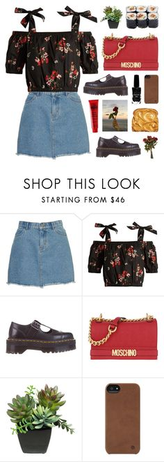 """""""Road to Paradise"""" by adirakpaula ❤ liked on Polyvore featuring Rebecca Taylor, Dr. Martens, Moschino, Incase and Azature"""