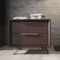 The Modloft Grand 2 Drawer Nightstand is here to attend to your every nighttime need. Two drawers and a generous surfact provide storage for bedside. Decor, Furniture, Modern Furniture, Interior, Bedside Table Design, Pvc Furniture Plans, Furniture Decor, Bed Furniture, Nightstand