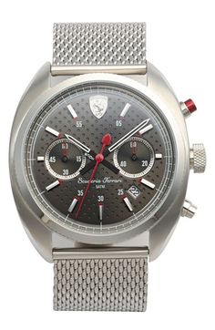 Scuderia Ferrari 'Formula Sportiva' Chronograph Mesh Strap Watch, 43mm available at #Nordstrom