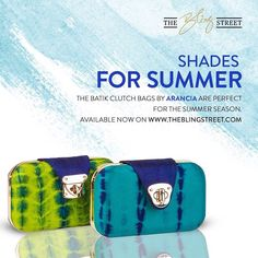 The batik clutch bags by Arncia are perfect for the summer season. Get yours here: http://www.theblingstreet.com/designers/arancia  #designerbags #deisgnerclutch #summerbags #summerweddings #summerstyle #theblingstreet #batikclutch #batikprintbag — with Arancia.