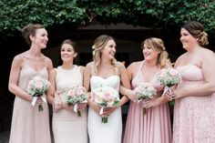 Bridesmaids Dresses Mix and Match | Pink | Blush