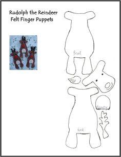 Reindeer Finger Puppet Pattern | Scribd