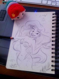 Quick sketch of Disney's Ariel by princekido on @DeviantArt