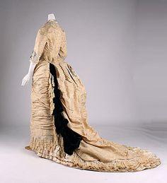 1875-78 ___ Dinner Dress by Mon. Vignon ___ silk & glass ___ French (Paris) ___ at The Metropolitan Museum of Art ___ photo 3